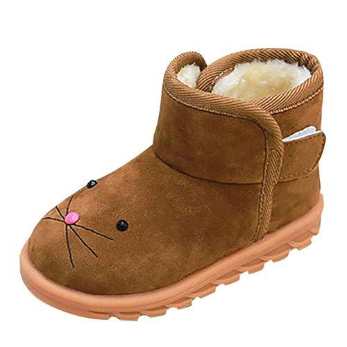 Botas Militares de Nieve Bajos para Niños Niñas Invierno PAOLIAN Botines Planos Pelo Zapatos Bebés Niñas