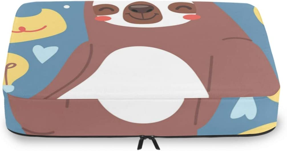 4 Set Packing Cubes Travel Luggage Packing Organizers Funny Sloth Sitting Yoga Lotus
