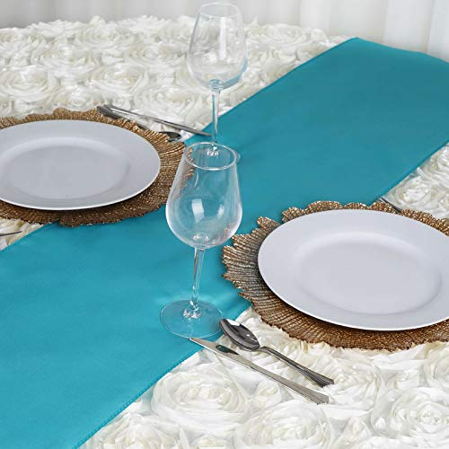 - Mikash 12 x 108 Polyester Table Runner Wedding Party Dinner Table Supply Decorations | Model WDDNGDCRTN - 2514 | 10 pcs