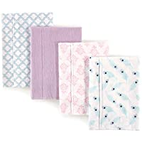 Hudson Baby Flannel Burp Cloths, Peacock Feathers