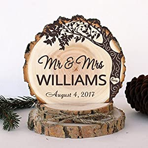Rustic Wedding Cake Topper. Engagement Love Tree Cake Topper. Rustic Wood  Cake Topper. Wedding Keepsake. Rustic Cake Topper Pictures