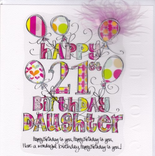 Daughter 21st birthday card large luxury birthday card amazon daughter 21st birthday card large luxury birthday card amazon kitchen home bookmarktalkfo Images