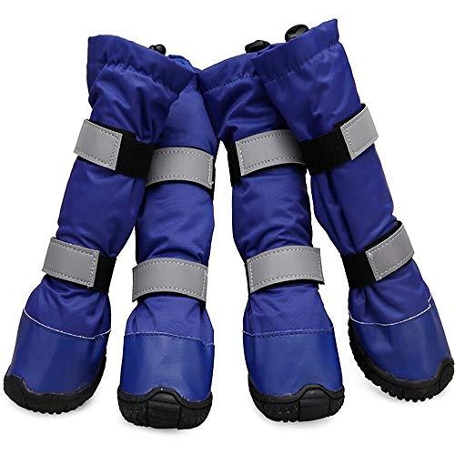 Waterproof Warm Dog Shoes Winter Pet Outdoor Long Dog Boots Non-Slip Shoes Casual Shoe Cover 4pcs/Set
