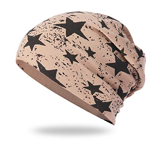 Cold Weather Hats,NRUTUP Full Five-star Male and Female Five-pointed Star Knit Hat Pile Cap Ear Protector.(Khaki,free size) from NRUTUP