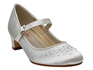 5f46cb91348f Miss Rainbow Kids Mary-Jane Style Bridesmaids Shoes Girls - Verity - Ivory  Satin -