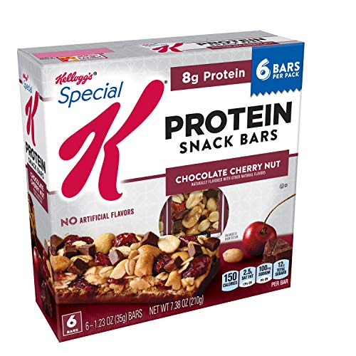 Special K Protein Snack Bars, Chocolate Cherry Nut, 7.38 oz (6 Count)(Pack of 8)
