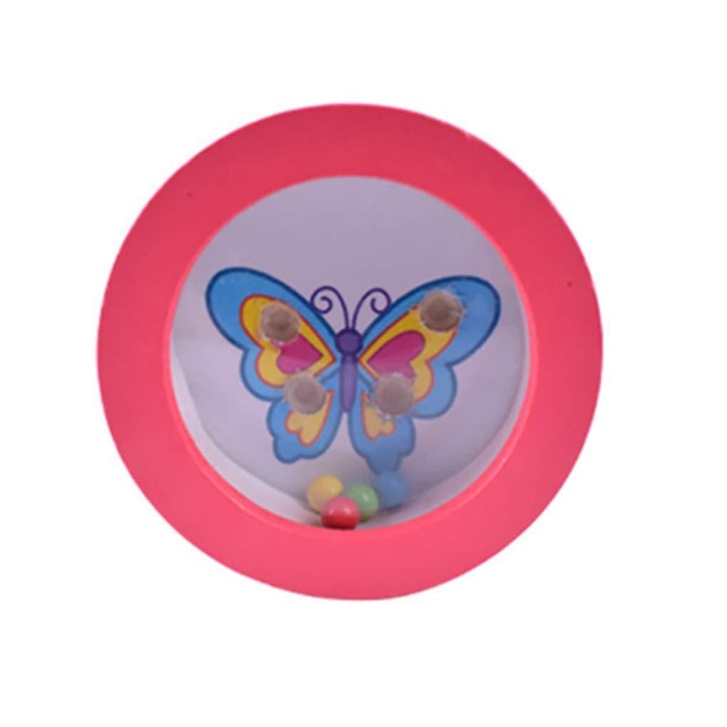 Providethebest Legno Mini Balls Balance labirinto rotondo Bilanciamento del giocattolo del bordo a mano Balance Training Sviluppo Consiglio Fun Maze Toy (stile casuale) Provide The Best