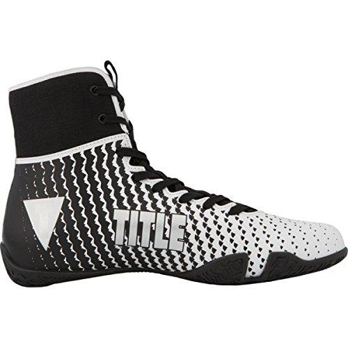 TITLE Predator II Boxing Shoes, White/Black, 10.5