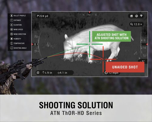 ATN Thor HD 384 Smart Thermal Riflescope w/High Res Video, WiFi, GPS, Image  Stabilization, Range Finder, Ballistic Calculator and iOS and Android Apps
