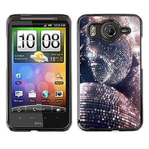 A-type Arte & diseño plástico duro Fundas Cover Cubre Hard Case Cover para HTC G10 (Disco Ball Glitter Silver Ball Dance Party)