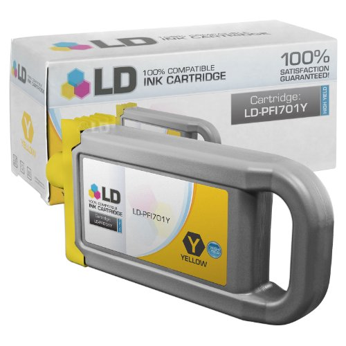 (LD Compatible Ink Cartridge Replacement for Canon PFI-701Y 0903B001AA High Yield (Yellow))