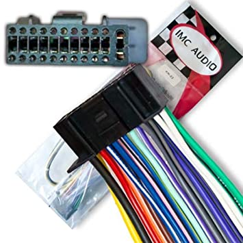 51S9 6 aj3L._SY355_ amazon com 22 pin wire harness for kenwood ddx kvt dnx kmr head kenwood ddx714 wiring diagram at bayanpartner.co
