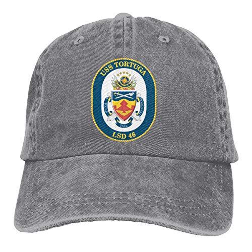 (Navy USS Tortuga LSD-46 Adjustable Baseball Caps Denim Hats Cowboy Sport Outdoor)
