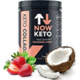NowKeto™ KetoCOLLAGEN™ Peptides w/KetoMCT™ Powder (Medium Chain Triglycerides) - Keto Diet - Great Fat & Fiber Source, Great for The Ketogenic Diet & Ketosis- Strawberry Creme