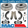 New Rear Drums Brake Shoes Wheel Cylinders & Hardware Fits For Honda Civic 1996-2000