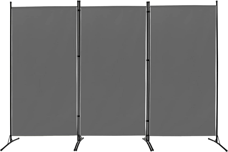ACTREY Outdoor/Indoor Room Divider (3-Panel), Folding Partition Privacy Screen for Office, School,Studio, Conference,Classroom, Dorm Room, Kids Room-102 W X 16