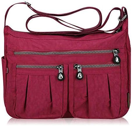 女性ナイロン軽量ウェイトバッグカジュアルアウトドア防水ショルダーバッグクロスボディバッグ YZUEYT