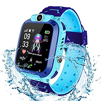 Kinder SmartWatch Digital Camera Watch with Games, Taschenlampe and 1.44 inch Touch LCD for Boys Girls Birthday (Blau)