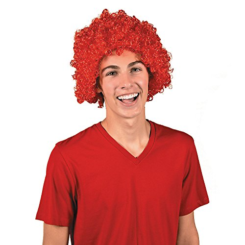 (Red Team Spirit Afro Wig)