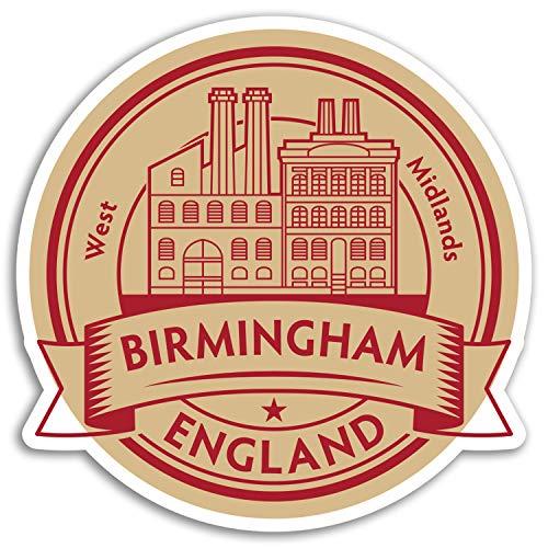 2 x 10cm Birmingham England Vinyl Stickers - UK Britain Travel Sticker #17339 (10cm Wide)