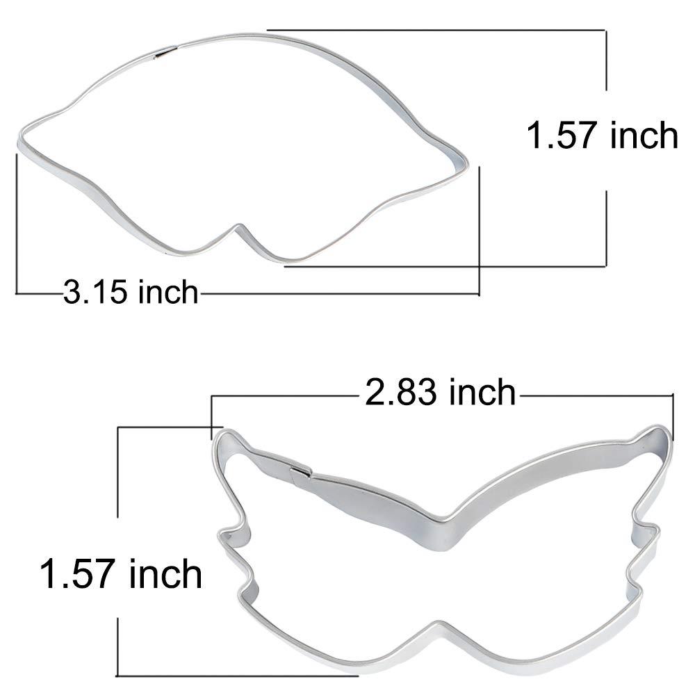 STARUBY cortadores de galletas de 4 unidades, corbata, máscara de ...