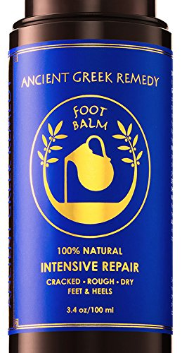 100% Organic Therapy Foot butter Balm Treatment to Heal, Repair, Smooth, Soften Dry Cracked Peel Callus Skin on Feet. Natural Heels Cream Moisturizer for soft and healthy feet care for men and women ()