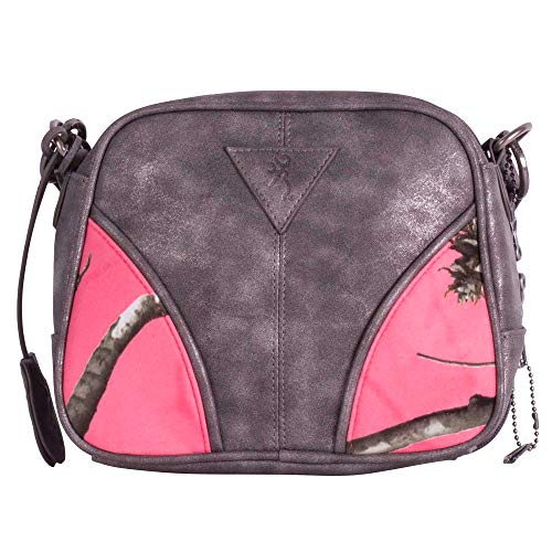 """Browning Ivy Pink Camouflage Concealed Carry Small Handbag (Realtree AP Sugar Coral Camo, Gunmetal, 8"""" x 7"""" x 4.5"""")"""