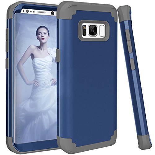 Galaxy S8+ Plus Case, Betty 3in1 Slim Premium Bumper Hybrid Heavy Duty Shockproof Full-Body Protective Defender Case, PC+ Silicone Armor Rugged Defender Case for Samsung Galaxy S8+ Plus -