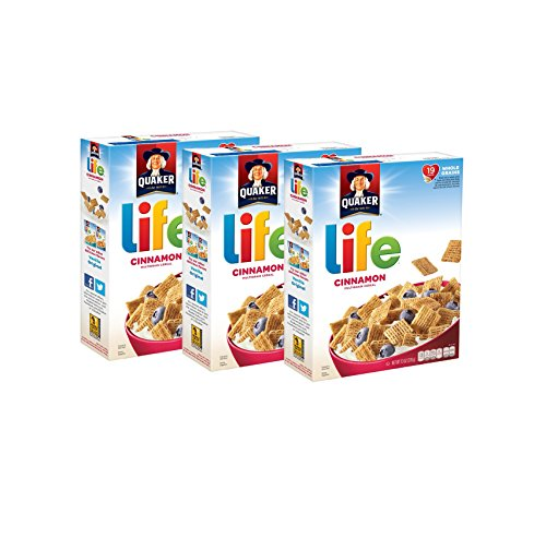 Quaker Life Cinnamon Cereal, 13oz Boxes, 3 Count - Toast Cereal Crunch Cinnamon