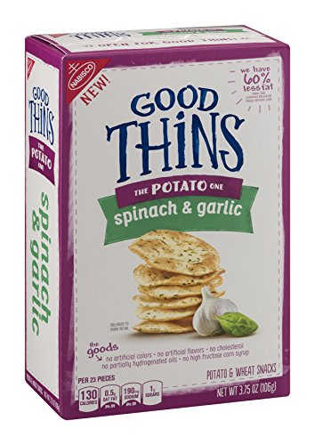 Nabisco, Good Thins, 3.75oz Box (Pack of 4) (The Potato One - Spinach Garlic)
