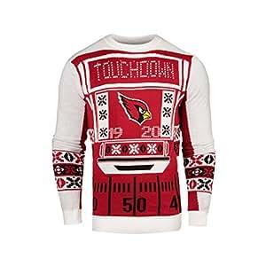 NFL Mens Ugly Light Up Crew Neck Sweater (Arizona Cardinals, Large)