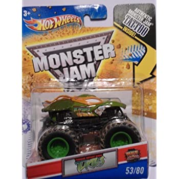 Hot Wheels Monster Jam, Teenage Mutant Ninja Turtles Michelangelo/Orange , Tattoo Series #53/80 1/64 Scale
