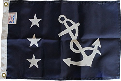 Cheap Past Commodore (Appliqued) – 12″ x 18″ Nautical Officer Flag