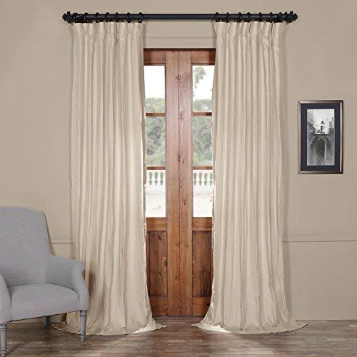 Half Price Drapes LN-XS1702 French Linen Curtain, 50 x 84, Fresh - Half Khaki