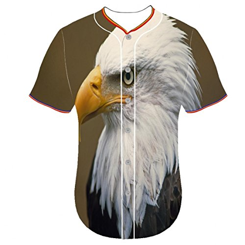 Angshanquliu Youth Baseball Jersey Clothing jerseys Bald Eagle zgdt 3d printing dress shirts 3D Printer Ustomization Round - Jeans In Skinny Beyonce