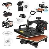 F2C 5 in 1 Pro Heat Press Machine 12x15 Digital