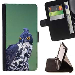 - Queen Pattern FOR Samsung ALPHA G850 /La identificaci????n del cr????dito ranuras para tarjetas tir????n de la caja Cartera de cuero cubie - prey bird hunting black white ornith