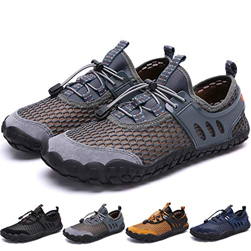 Bridawn Men Women Quick Dry Barefoot Hiking Water Shoes for Swim Surf ()