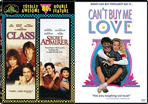 Can't Buy Me 80's Love Classic Combo Pack: Class & Secret Admirer 3 Movie DVD Can't Buy Me - Ford Classes Tom