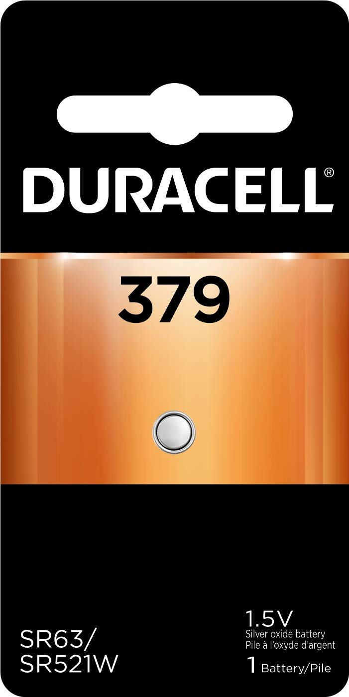 Duracell – 379 1.5V Silver Oxide Button Battery – long-lasting battery – 1 count