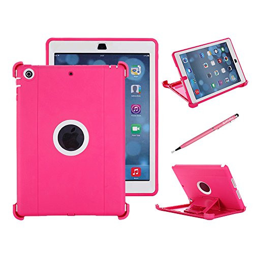 iPad Air Camo Case, Harsel Heavy Duty Camouflage High Impact Resistant Tough Armor Rugged Hybrid Full Body Protective