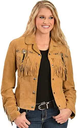 0bdf2812810f7 Scully Women s Suede Leather Fringe Jacket Plus