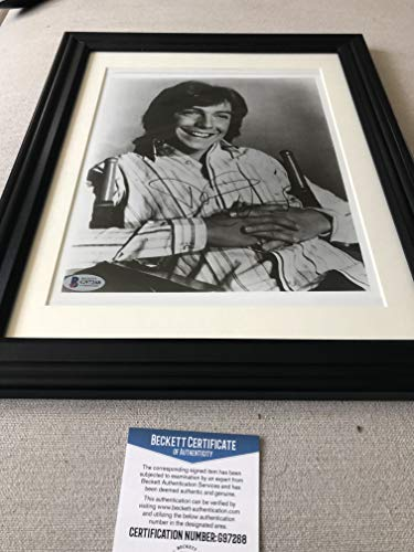 (Autographed David Cassidy 8x10 vintage photo framed Beckett certified signed)