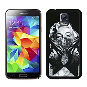 Fashion Custom Design Tattooed Marilyn Monroe Black Samsung Galaxy S5 I9600 G900a G900v G900p G900t G900w Case