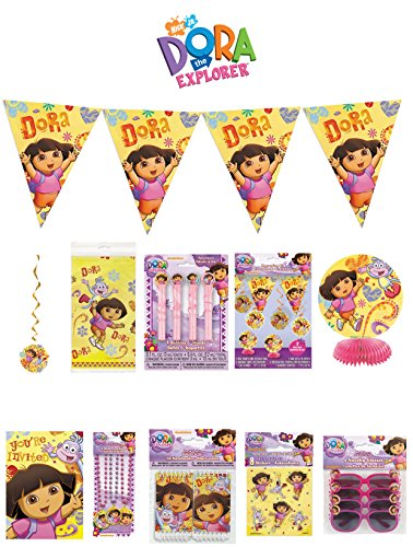 [Dora Party Favors and Decoration Kit] (Dora Diego And Boots)
