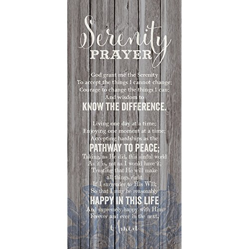 Serenity Prayer 6 x 9 Wood Plank Look Wall Art Plaque