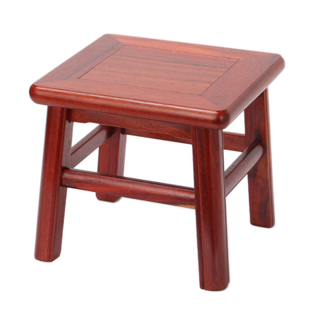 A-red pear ZHAOYONGLI Solid Wood Stool Household Coffee Table Stool Living Room Sofa Stool Creative Change shoes Bench Creative Solid Durable Long Lasting (color   D-Ebony)