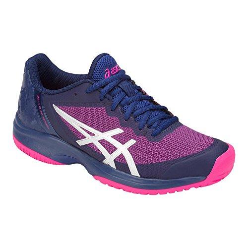 ASICS Women's Gel-Court Speed Tennis Shoes, Blue/Pink, Size 10.5