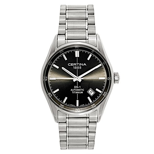 Certina - Reloj Analógico de Automático para Hombre, correa de Acero inoxidable color Gris: Amazon.es: Relojes