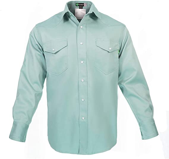 Flame Resistant FR Denim Shirt 100/% C 7 oz